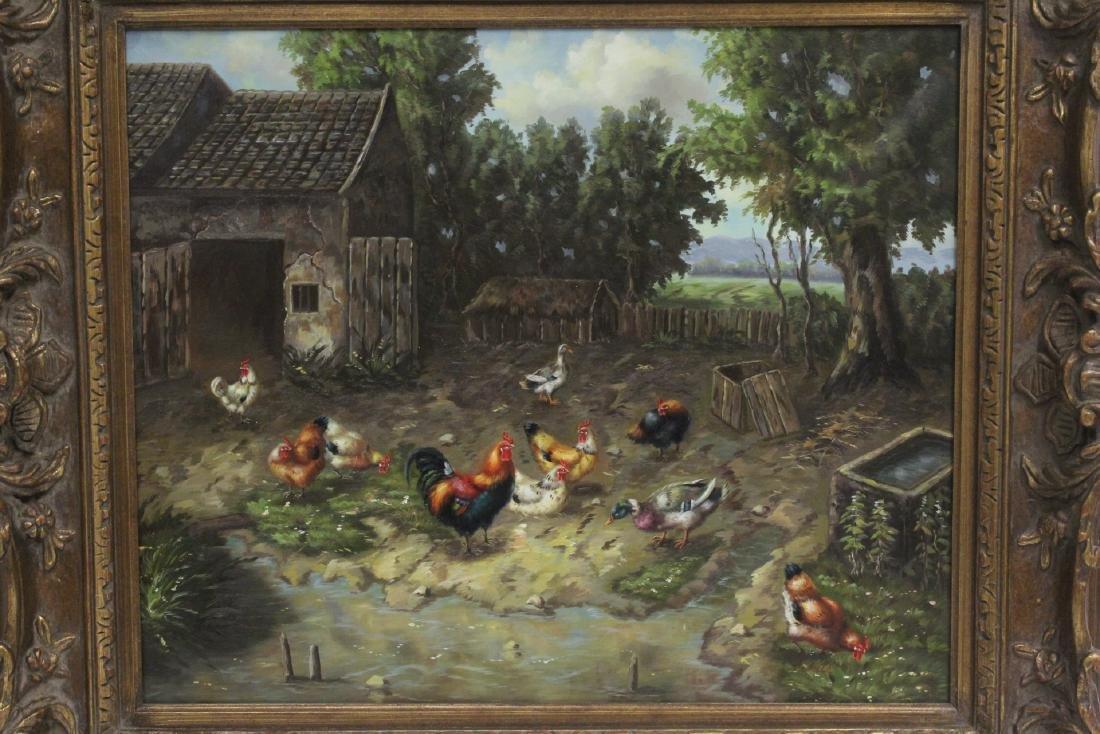 """Oil on canvas """"farm scene"""" - 2"""