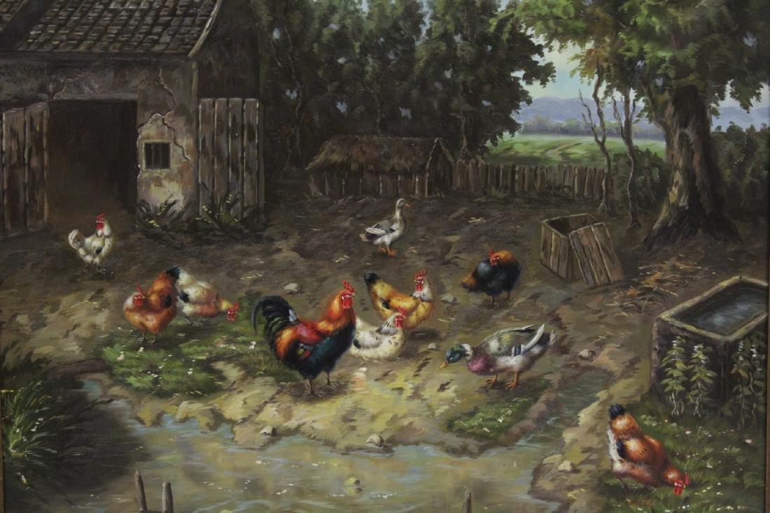 """Oil on canvas """"farm scene"""" - 3"""
