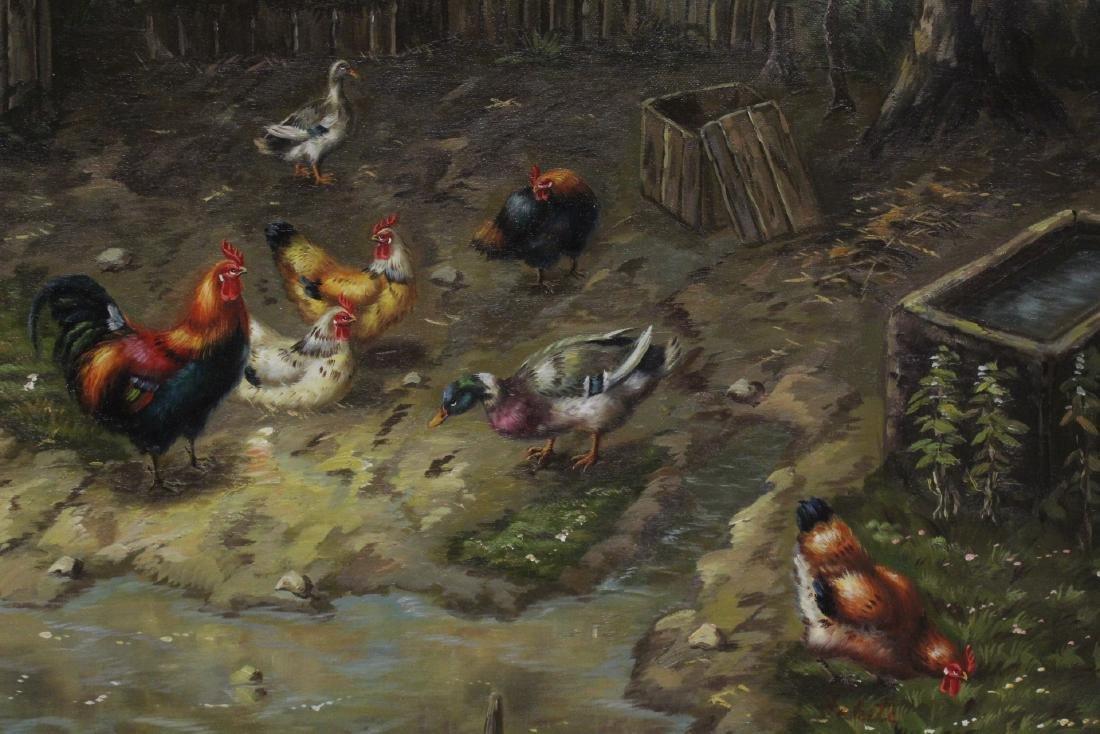 """Oil on canvas """"farm scene"""" - 5"""
