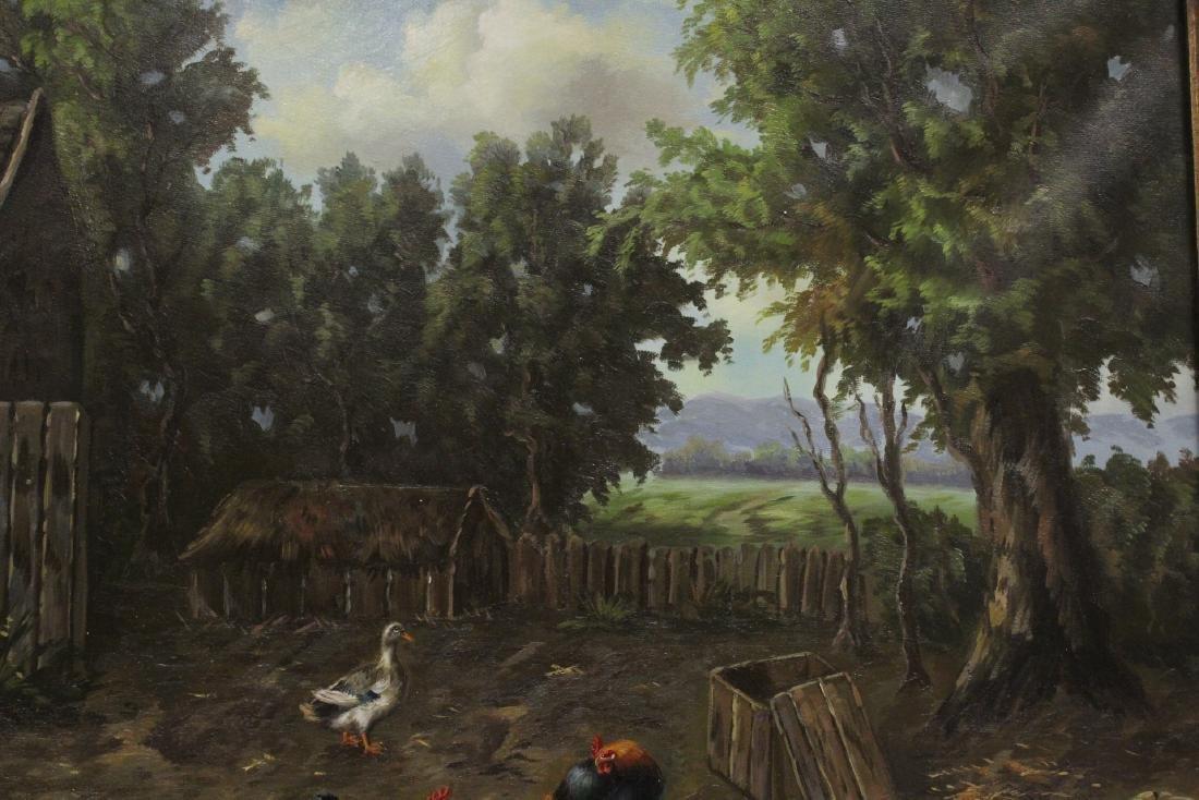 """Oil on canvas """"farm scene"""" - 6"""