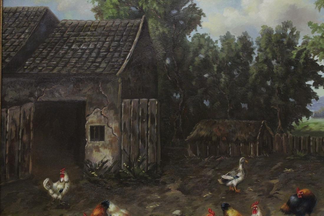 """Oil on canvas """"farm scene"""" - 7"""