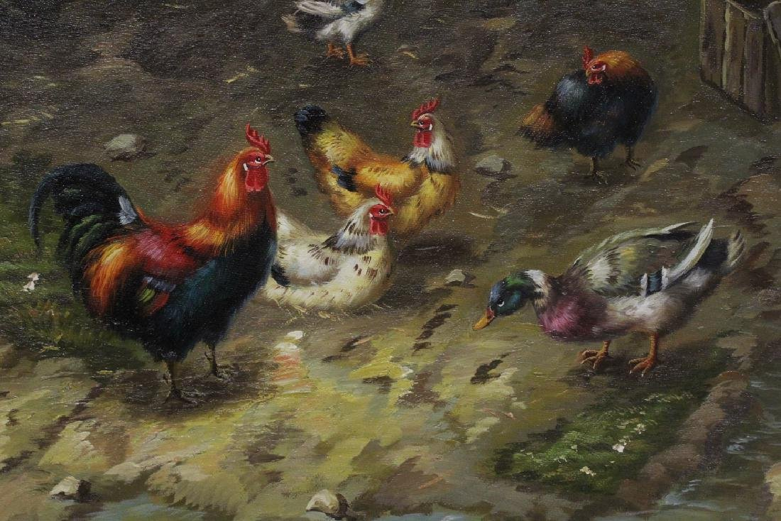 """Oil on canvas """"farm scene"""" - 8"""