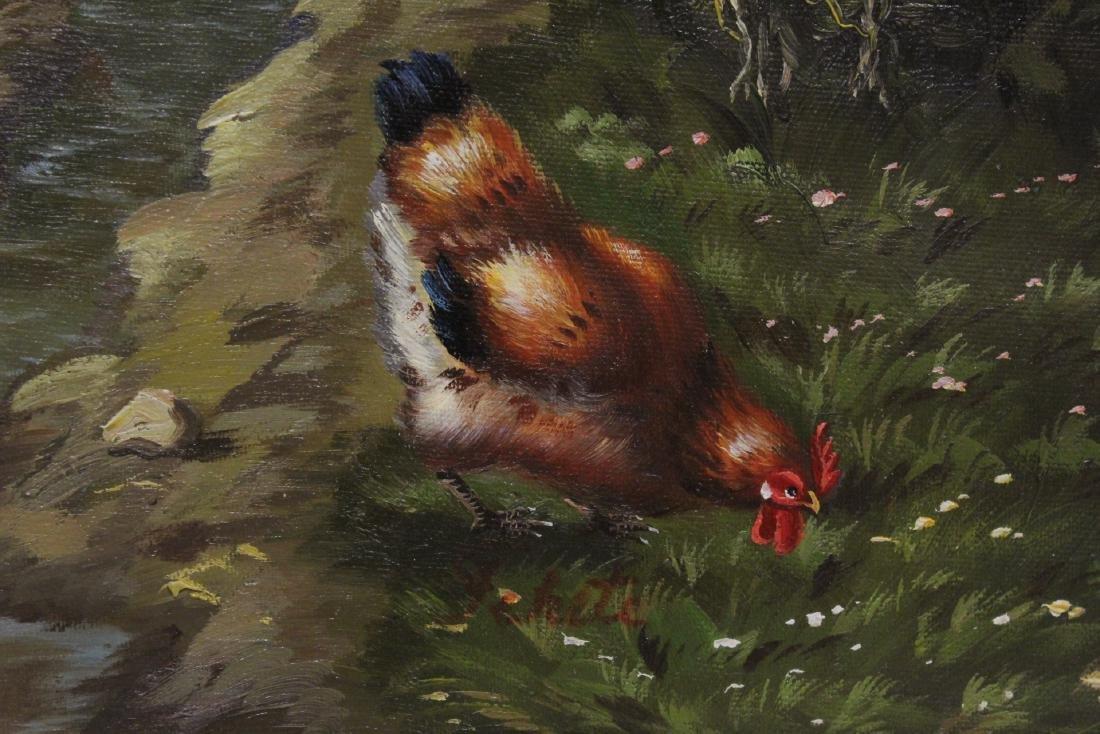 """Oil on canvas """"farm scene"""" - 9"""