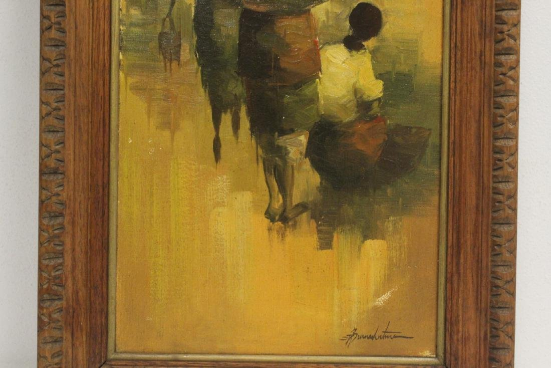 2 South Asian oil on canvas paintings - 4