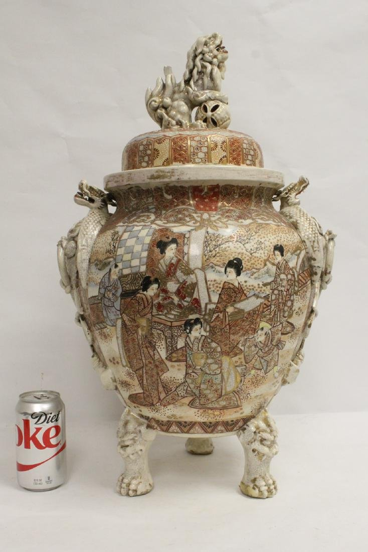 Antique Japanese large kutani censer