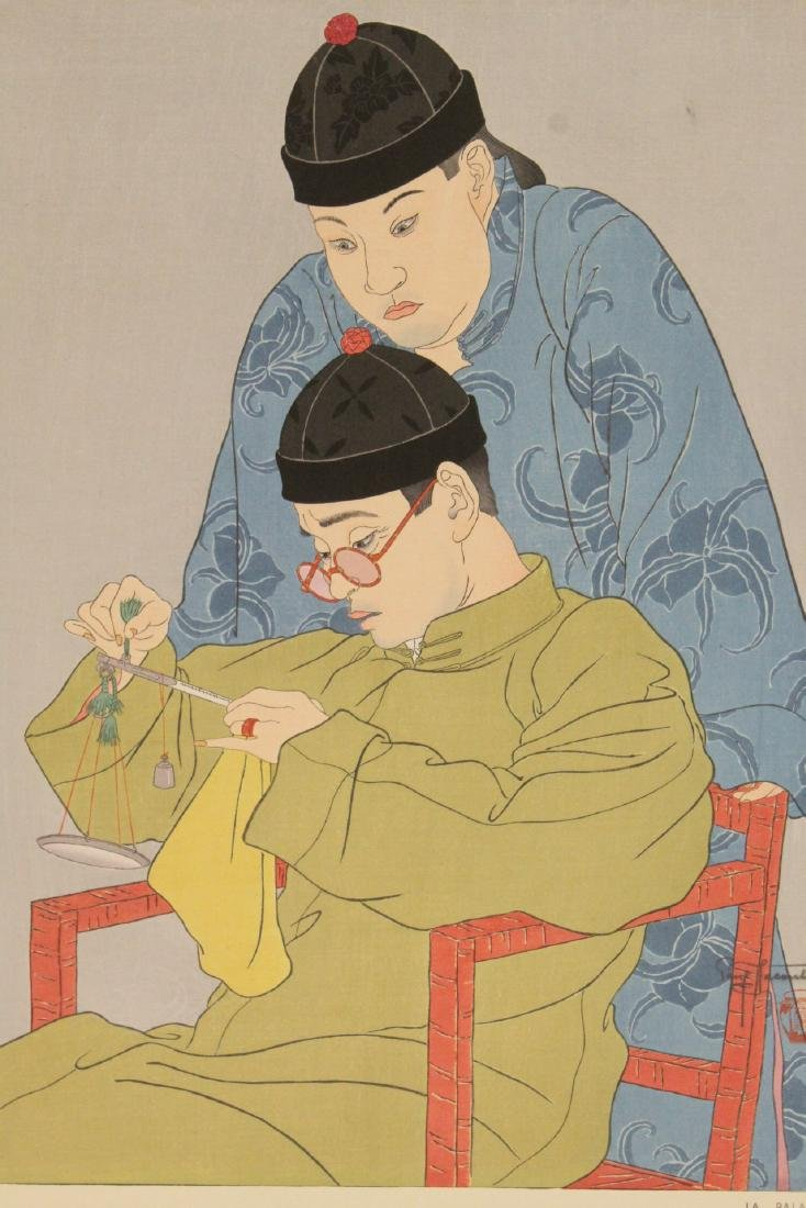 Japanese woodblock print by Paul Jacoulet - 10