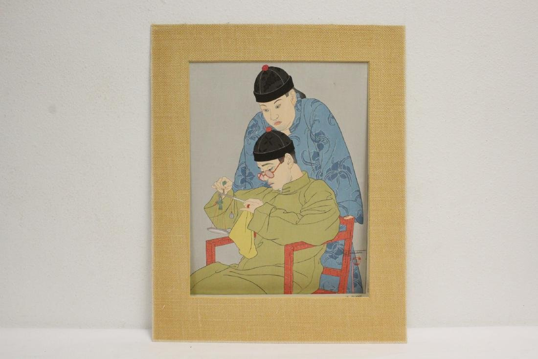 Japanese woodblock print by Paul Jacoulet