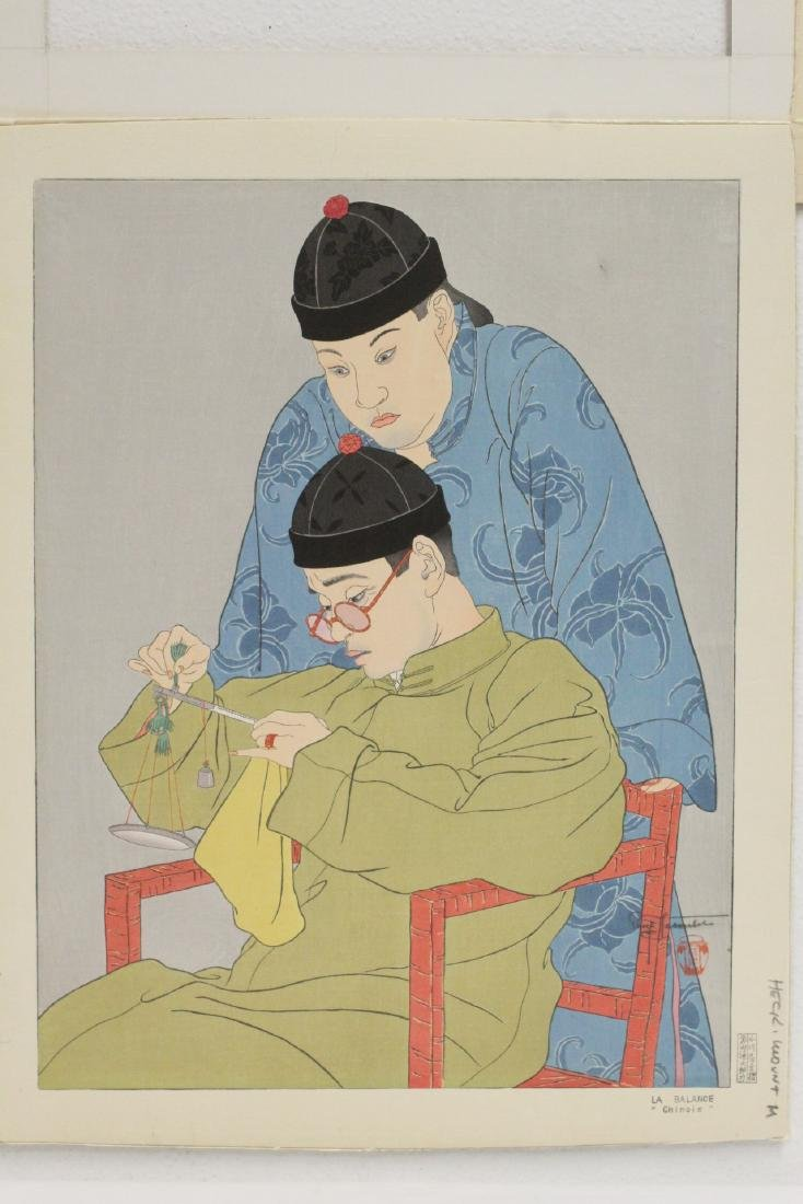 Japanese woodblock print by Paul Jacoulet - 2