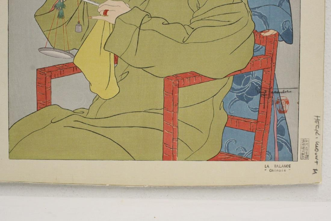 Japanese woodblock print by Paul Jacoulet - 5