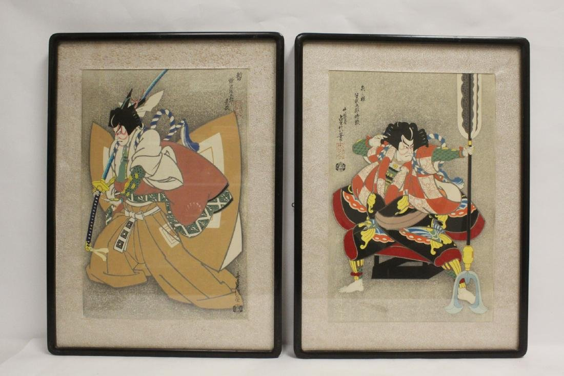 2 Japanese contemporary woodblock prints