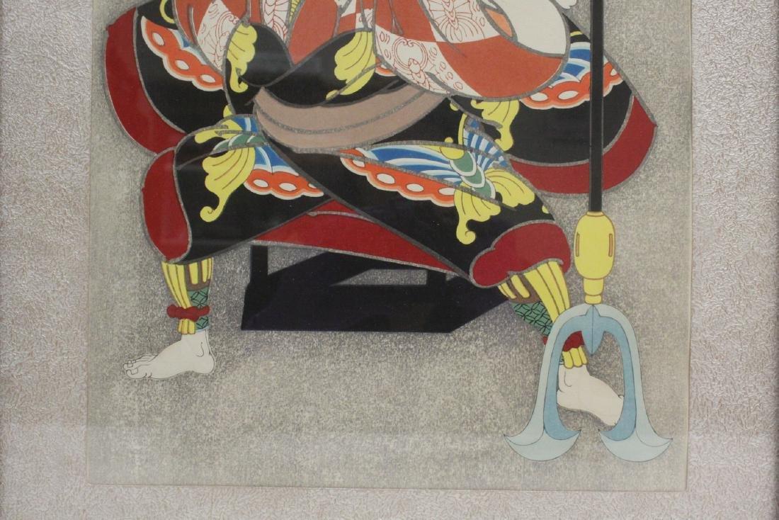 2 Japanese contemporary woodblock prints - 4