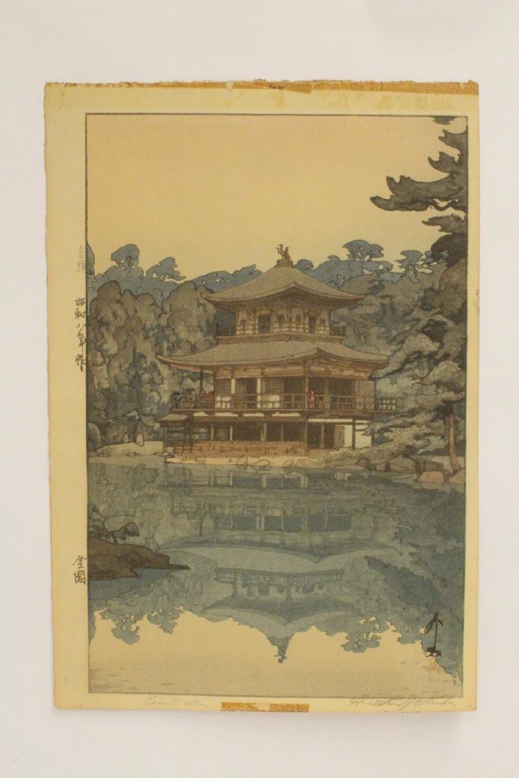 Japanese w/b print by Hiroshi Yoshida