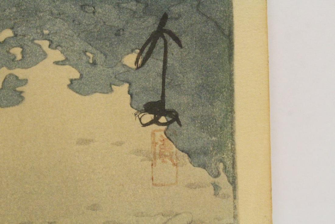 Japanese w/b print by Hiroshi Yoshida - 9