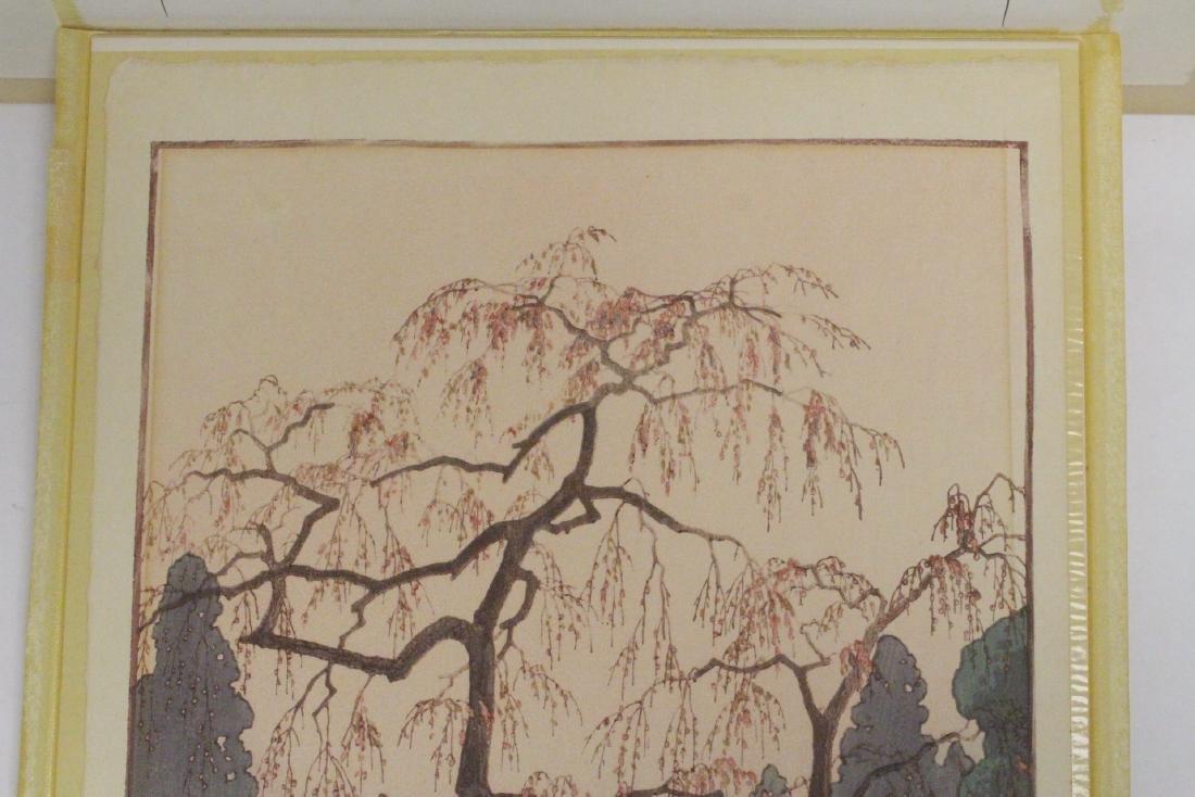 Japanese w/b print laid on board by Toshi Yoshida - 3