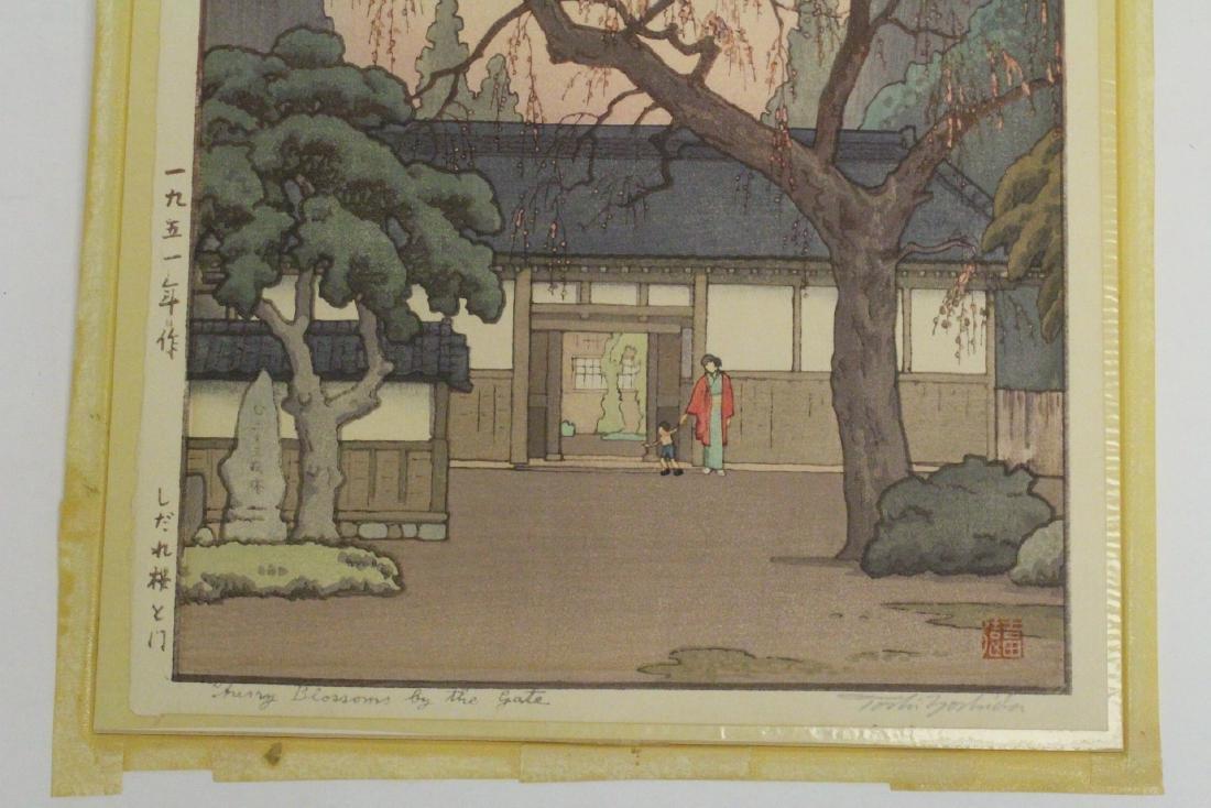 Japanese w/b print laid on board by Toshi Yoshida - 5