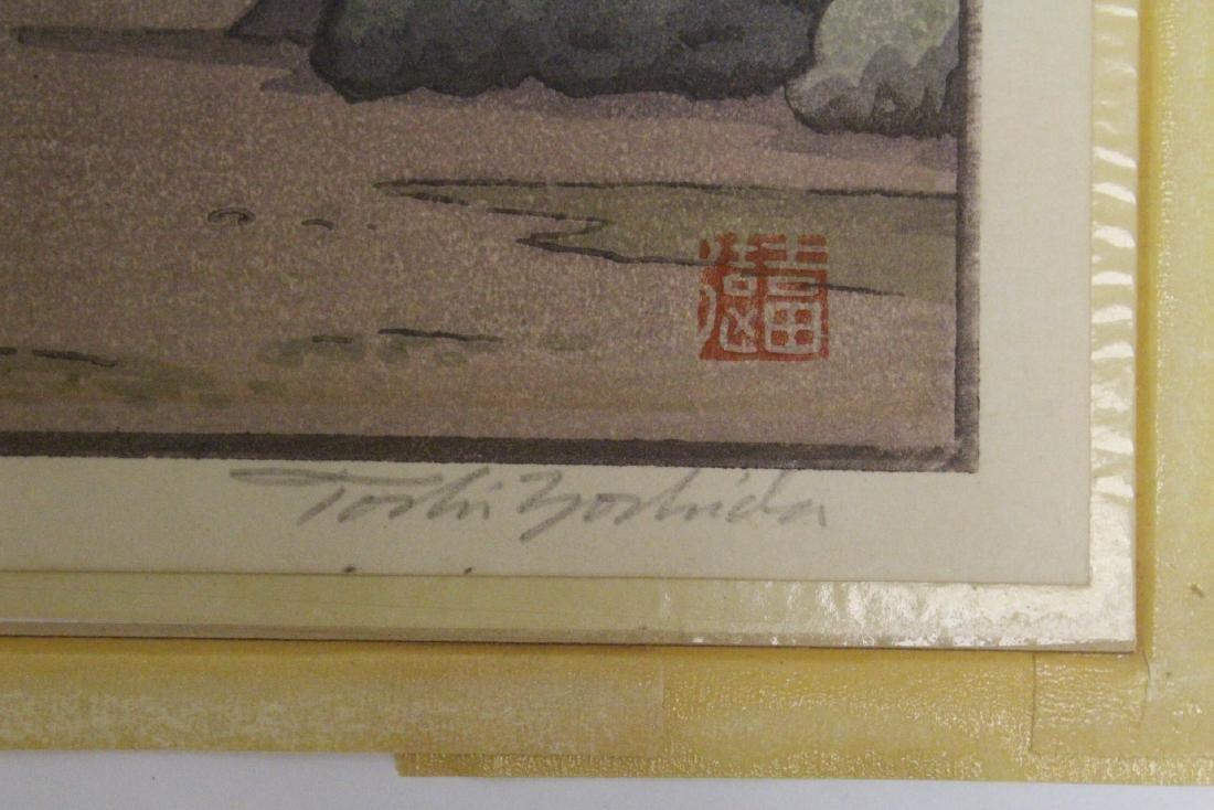 Japanese w/b print laid on board by Toshi Yoshida - 8
