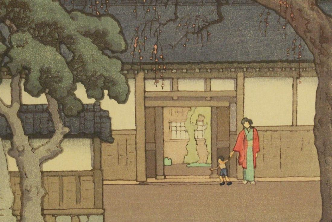 Japanese w/b print laid on board by Toshi Yoshida - 9