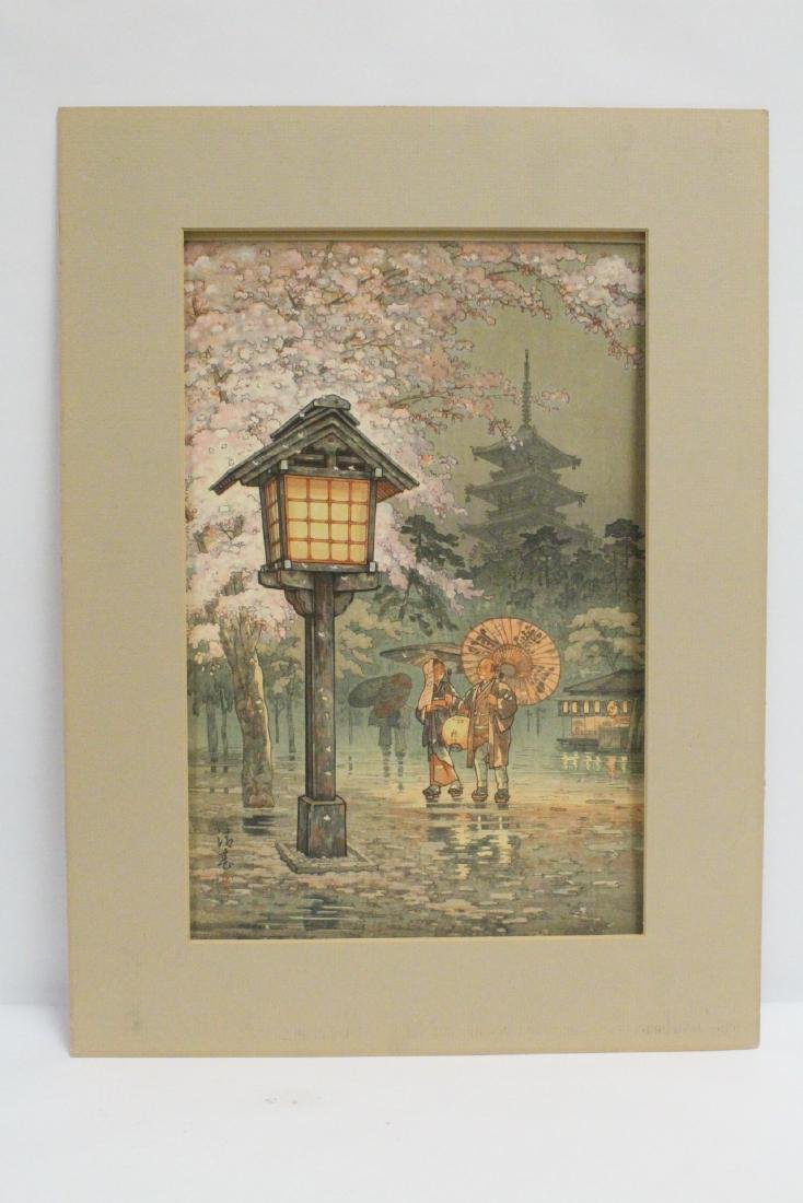 Japanese contemporary woodblock print
