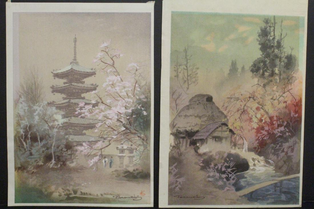 2 Japanese contemporary woodblock prints