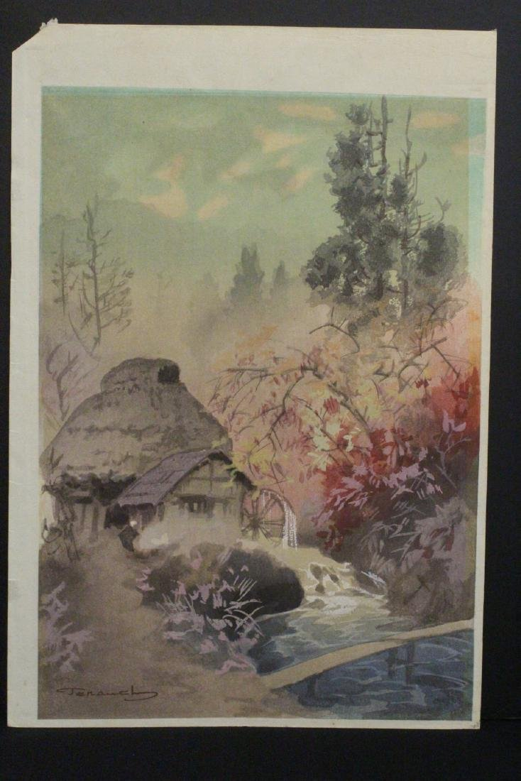 2 Japanese contemporary woodblock prints - 3