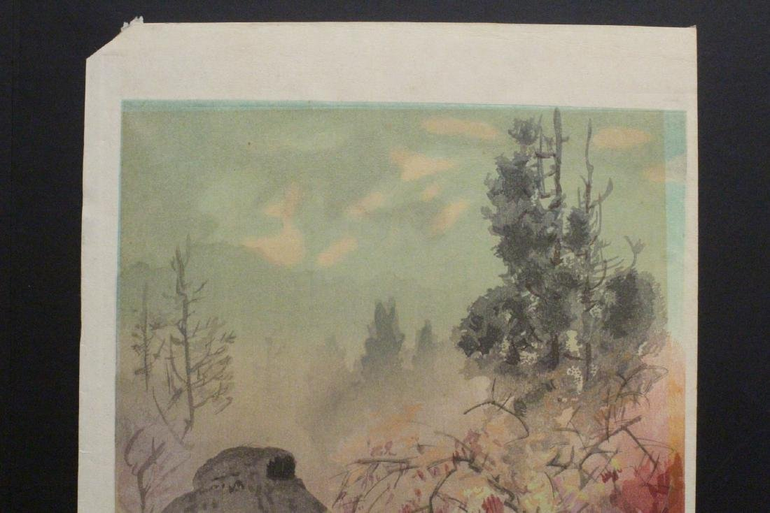 2 Japanese contemporary woodblock prints - 4