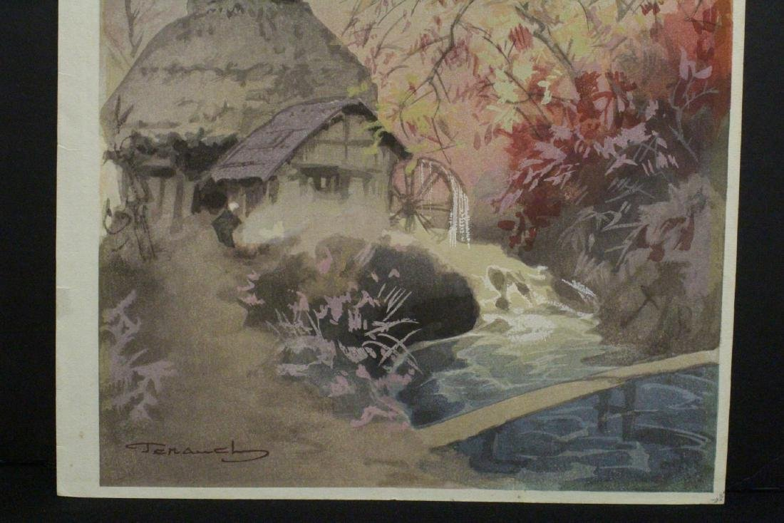 2 Japanese contemporary woodblock prints - 5
