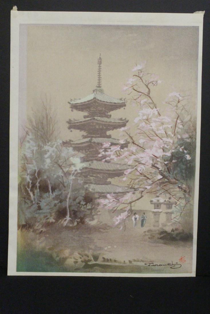 2 Japanese contemporary woodblock prints - 7