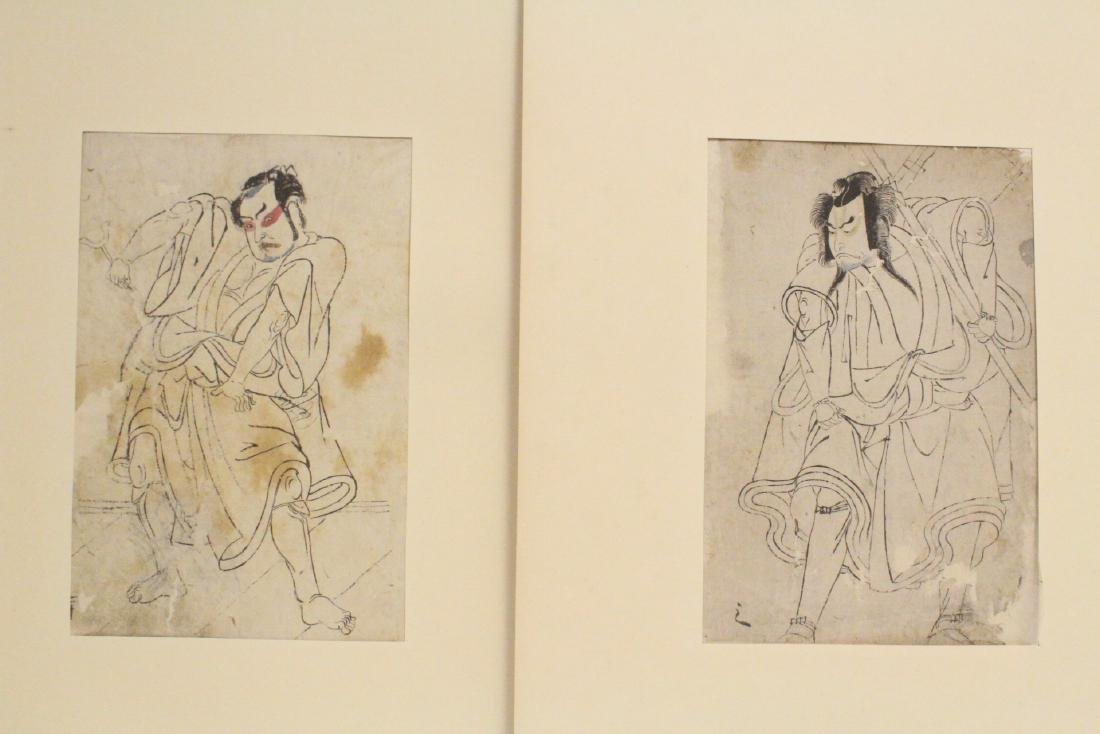 Two 18th c. Japanese w/b prints by Katsukawa Shunsho