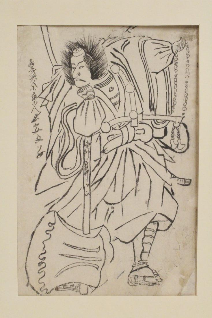 18th c. Japanese w/b print by Katsukawa Shunsho