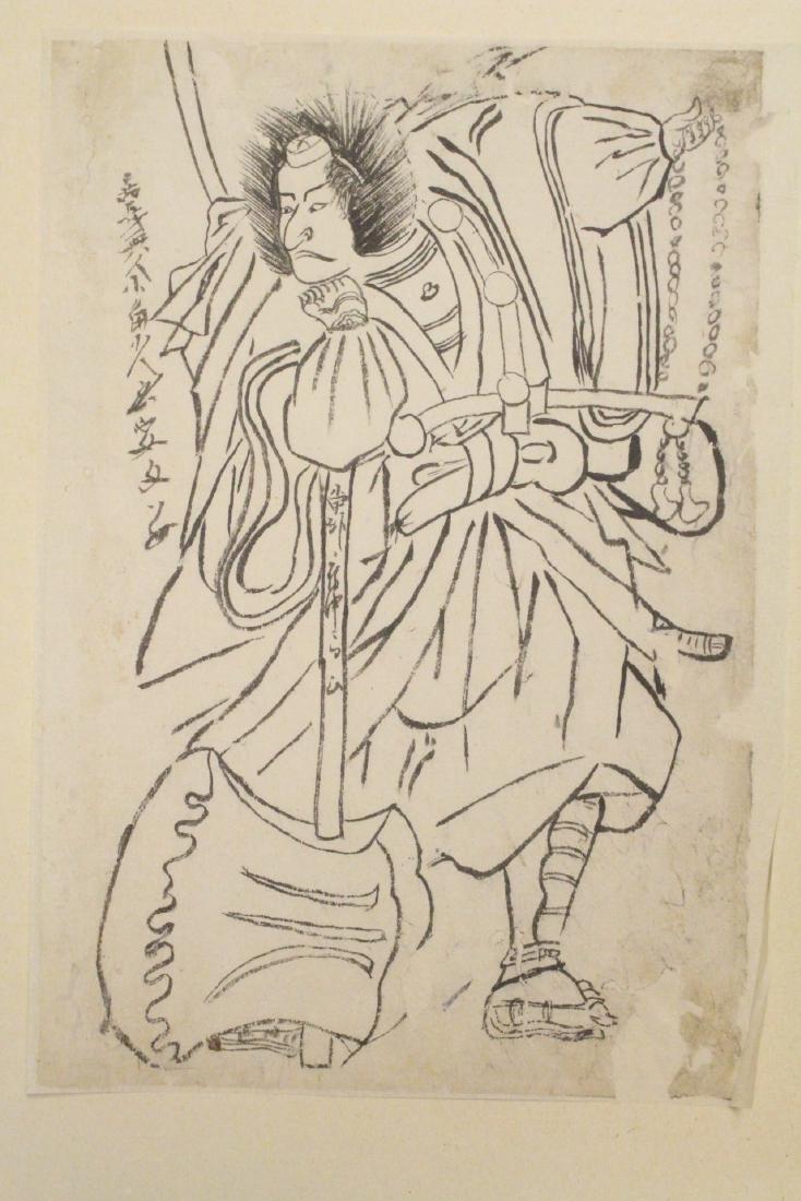 18th c. Japanese w/b print by Katsukawa Shunsho - 2