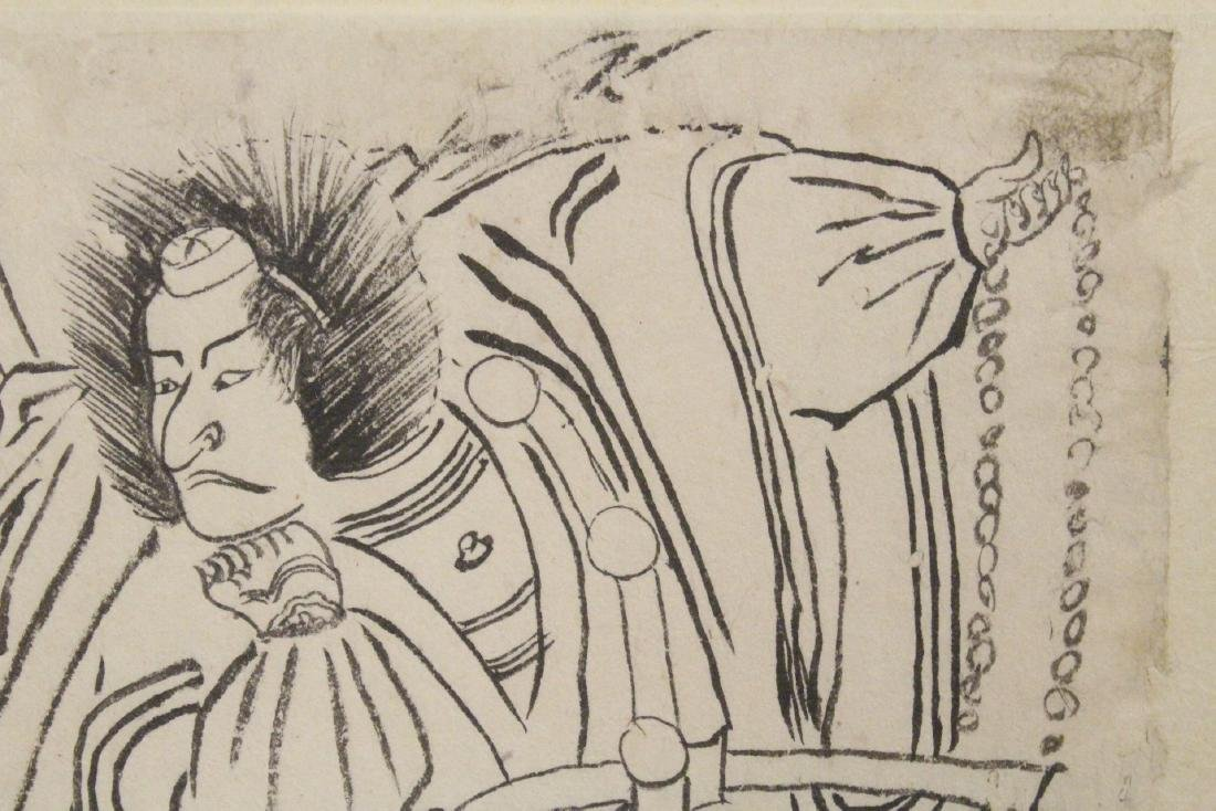 18th c. Japanese w/b print by Katsukawa Shunsho - 8