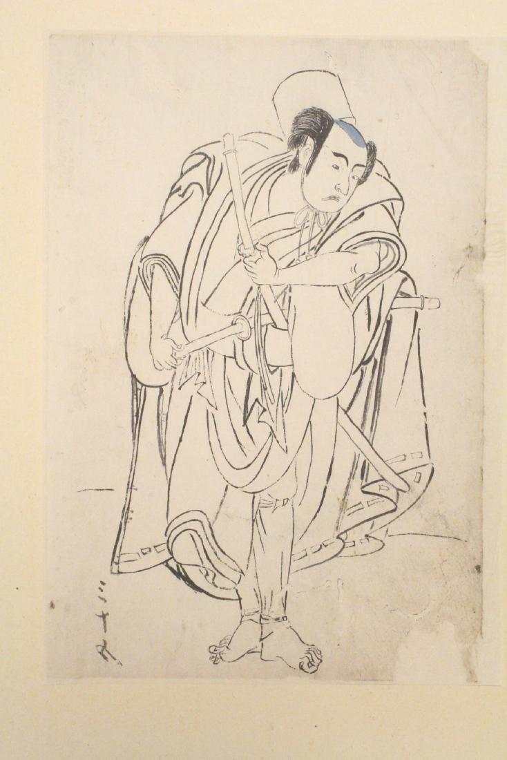 2 Japanese 18th c. w/b prints by Katsukawa Shunsho - 2