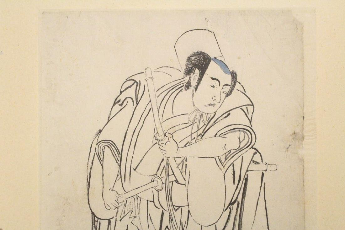 2 Japanese 18th c. w/b prints by Katsukawa Shunsho - 3