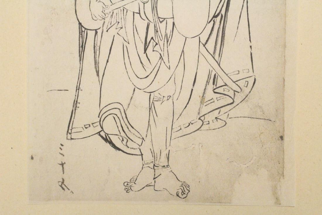 2 Japanese 18th c. w/b prints by Katsukawa Shunsho - 4