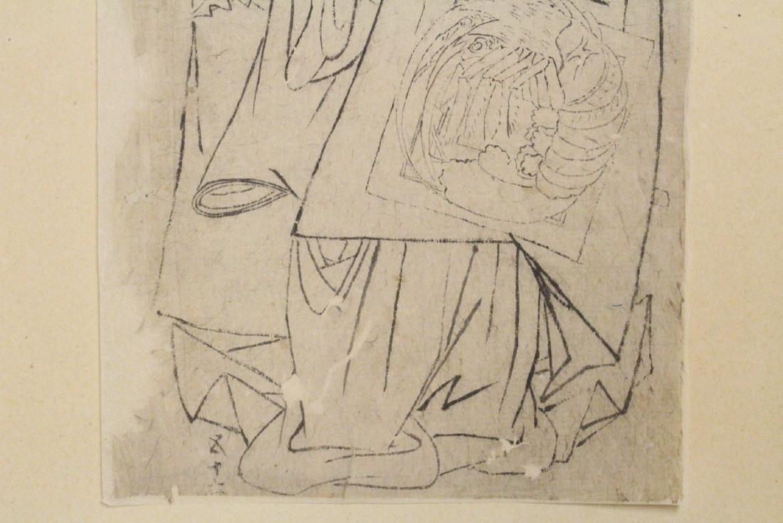 2 Japanese 18th c. w/b prints by Katsukawa Shunsho - 8