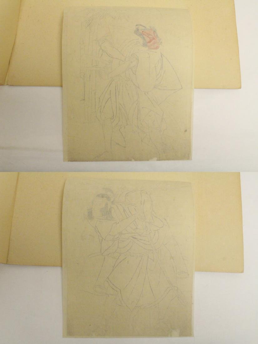 2 Japanese 18th c. w/b prints by Katsukawa Shunsho - 10