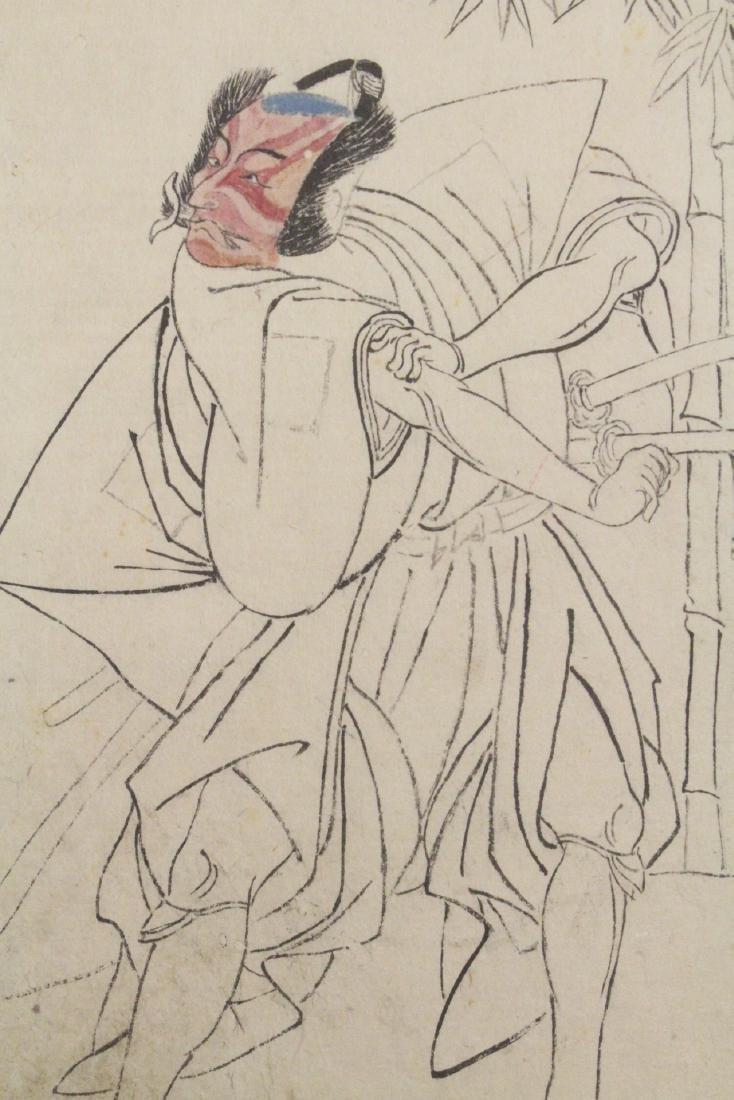 2 Japanese 18th c. w/b prints by Katsukawa Shunsho - 5