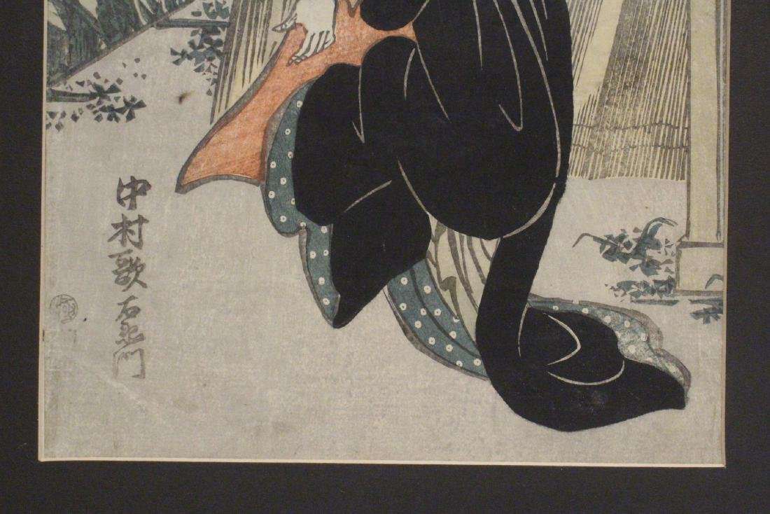 Antique Japanese woodblock print - 5