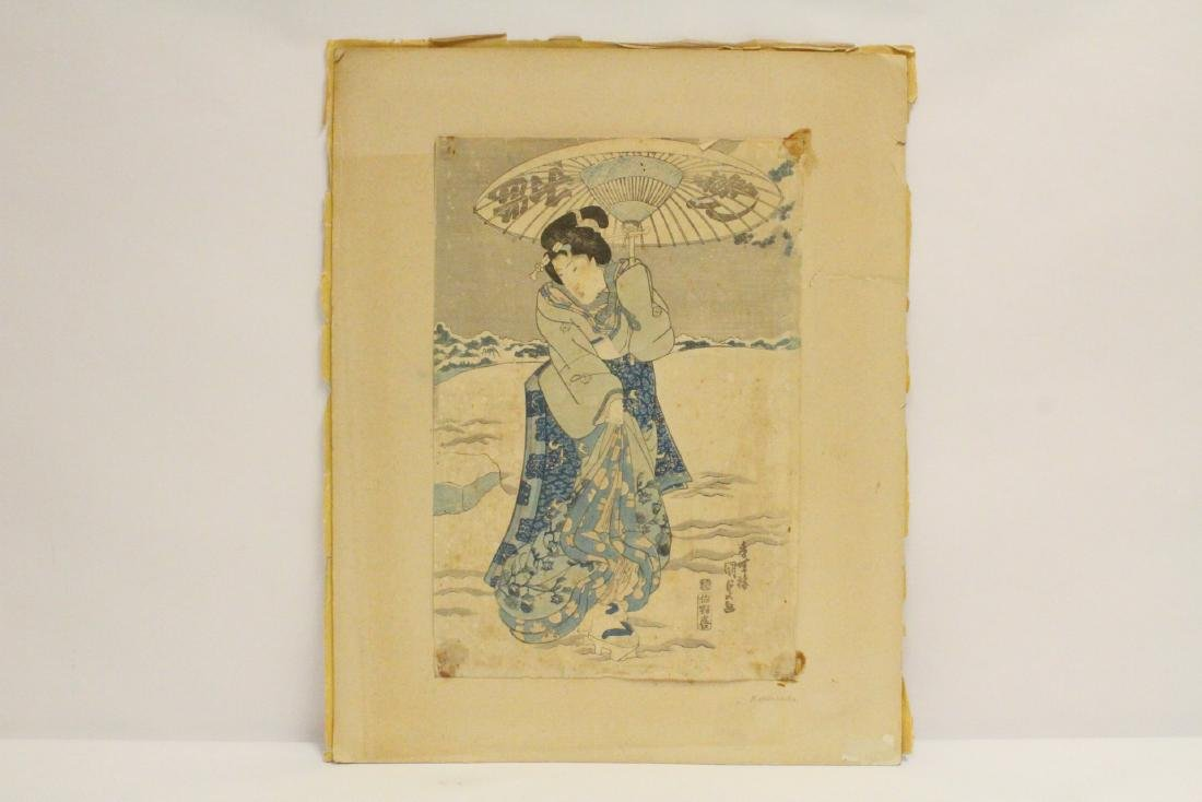 Antique Japanese woodblock print by Kunisada