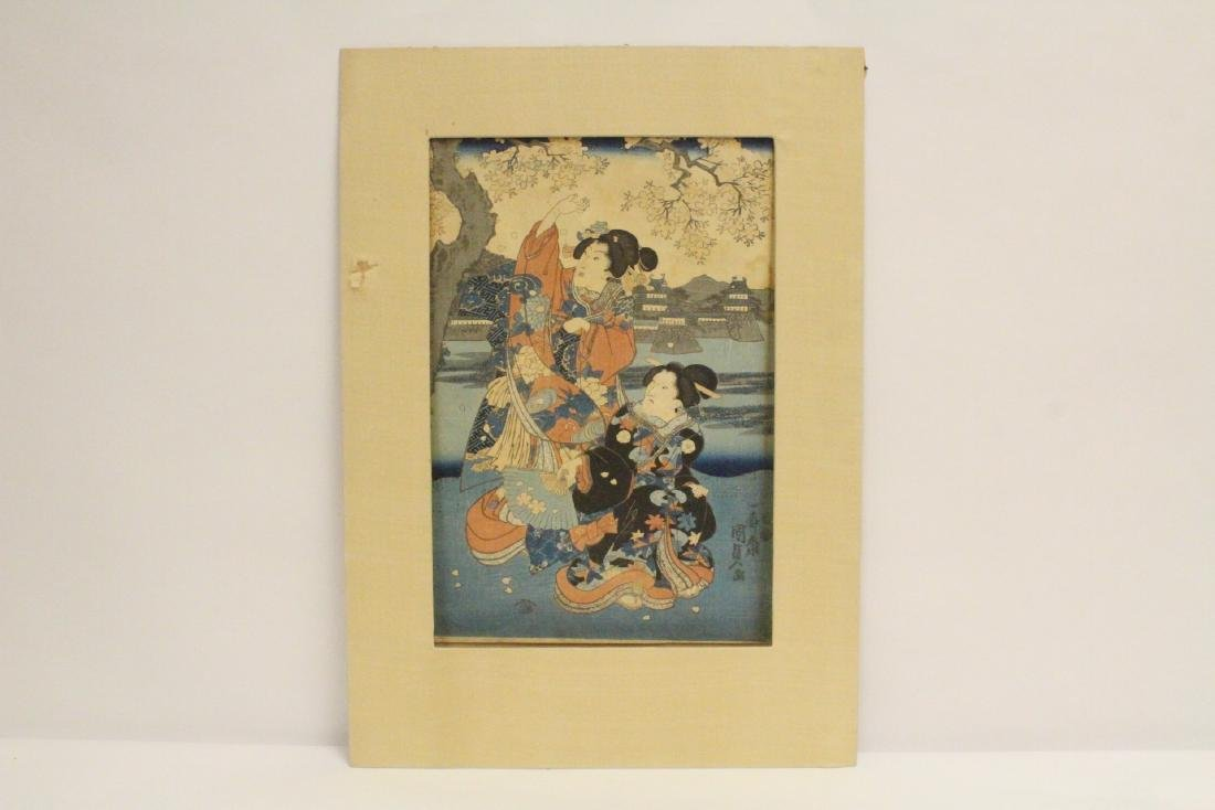 Antique Japanese w/b print by Kunisada