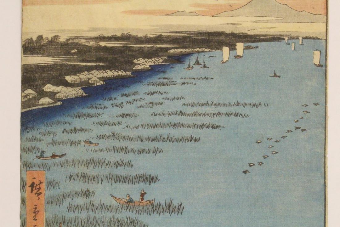 Antique Japanese w/b print by Hiroshige - 4