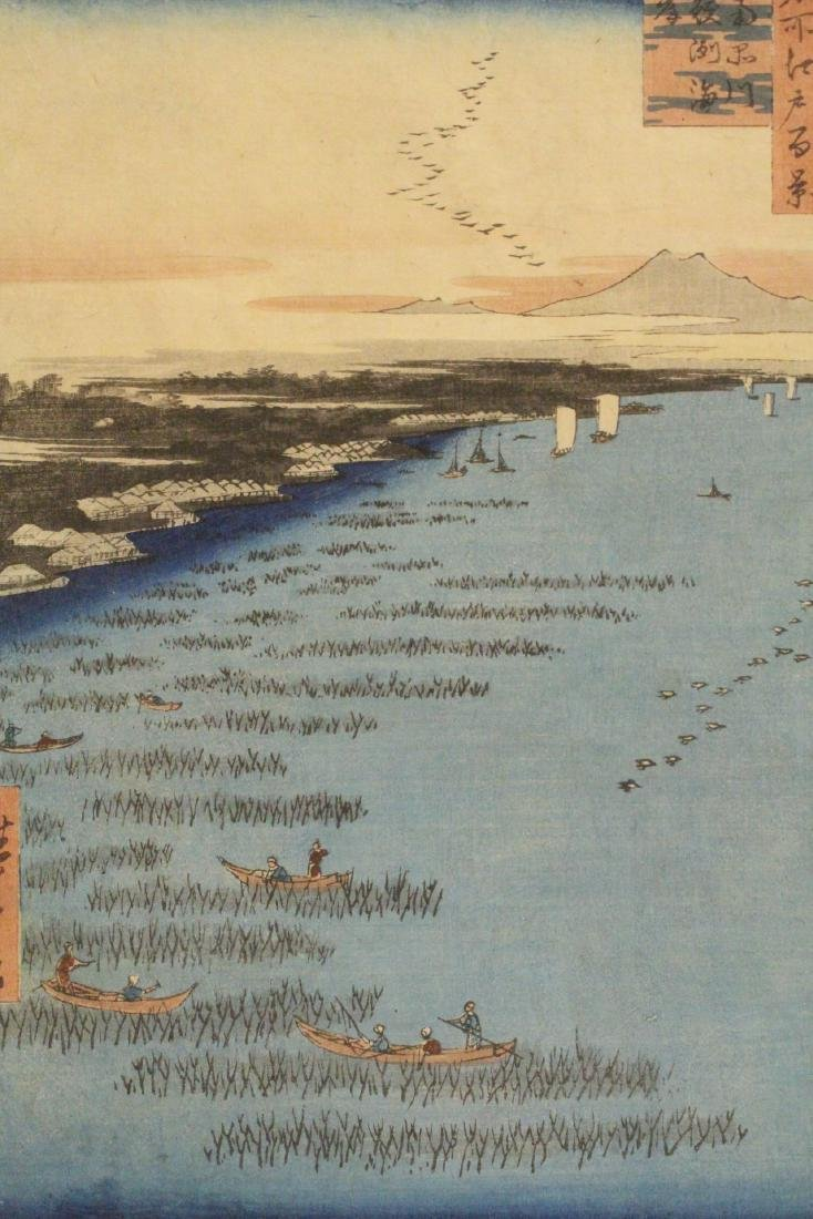 Antique Japanese w/b print by Hiroshige - 9