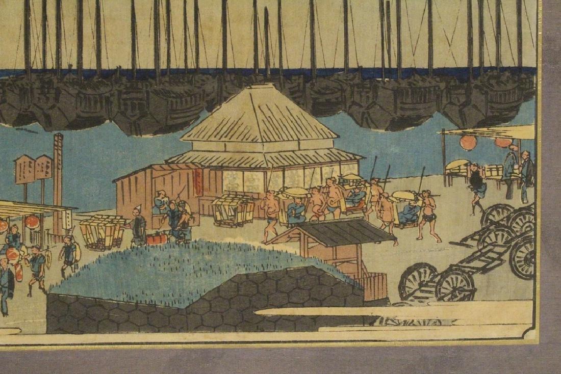 Antique Japanese w/b print by Hiroshige - 5