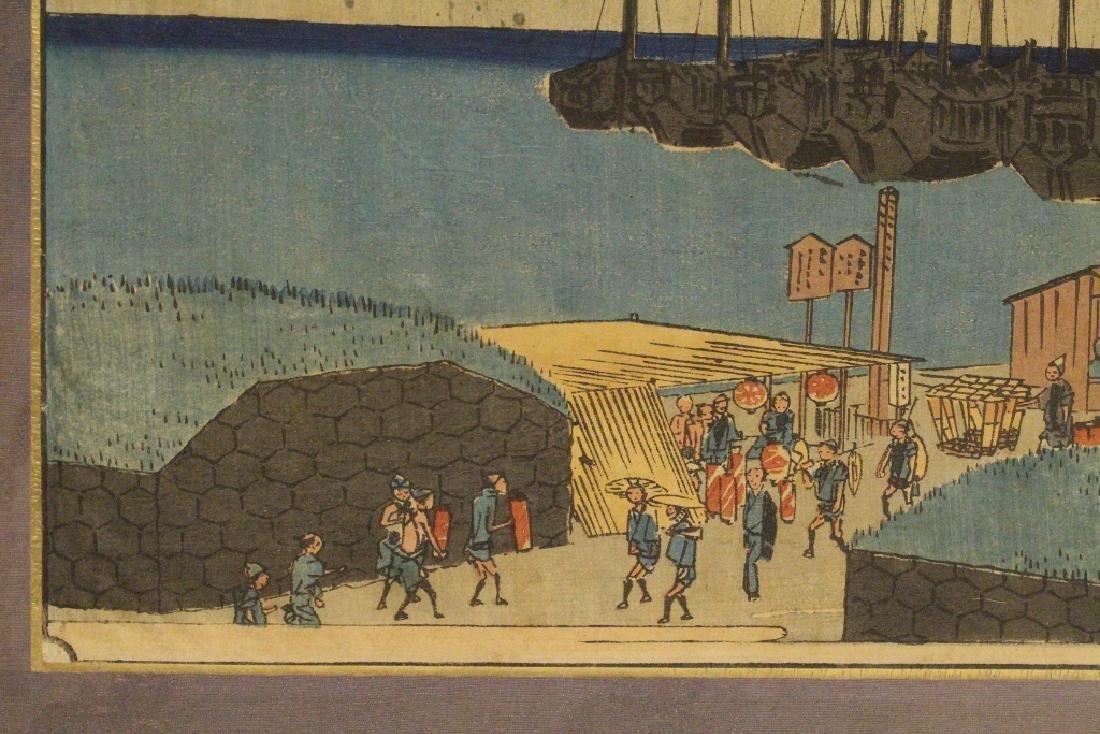 Antique Japanese w/b print by Hiroshige - 6