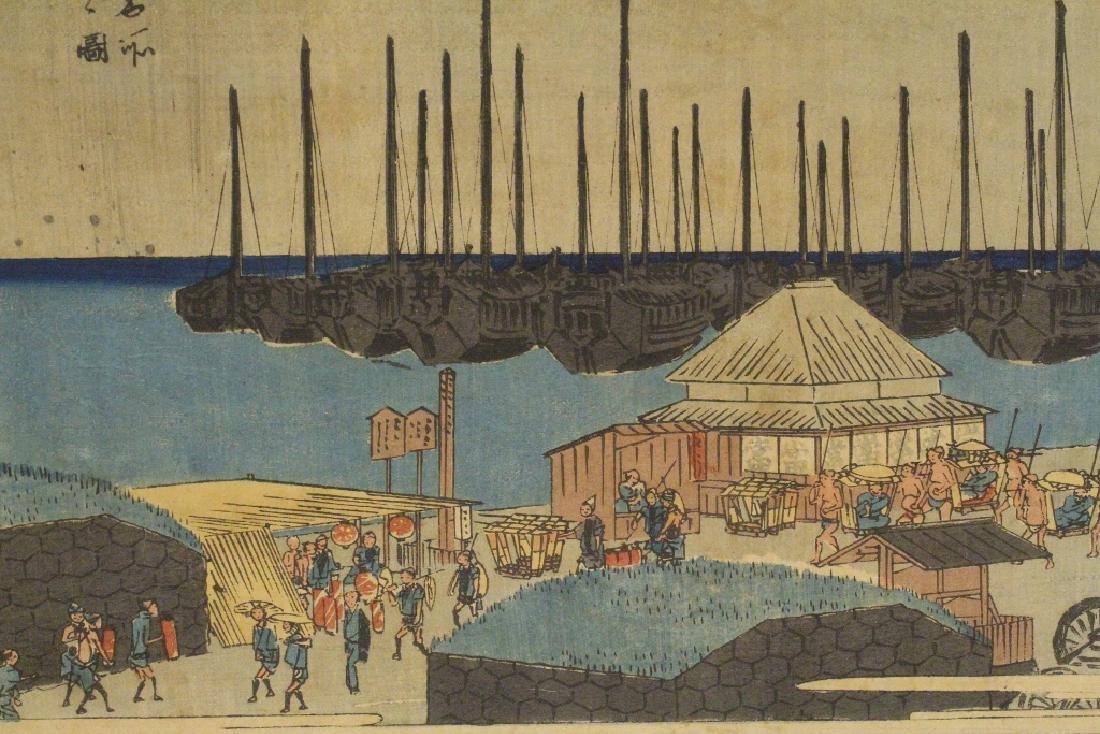 Antique Japanese w/b print by Hiroshige - 7