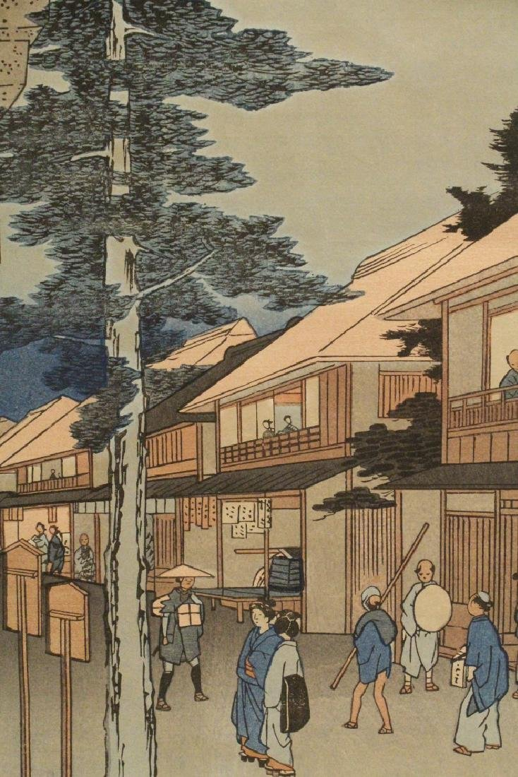 2 antique Japanese woodblock prints by Hiroshige - 8