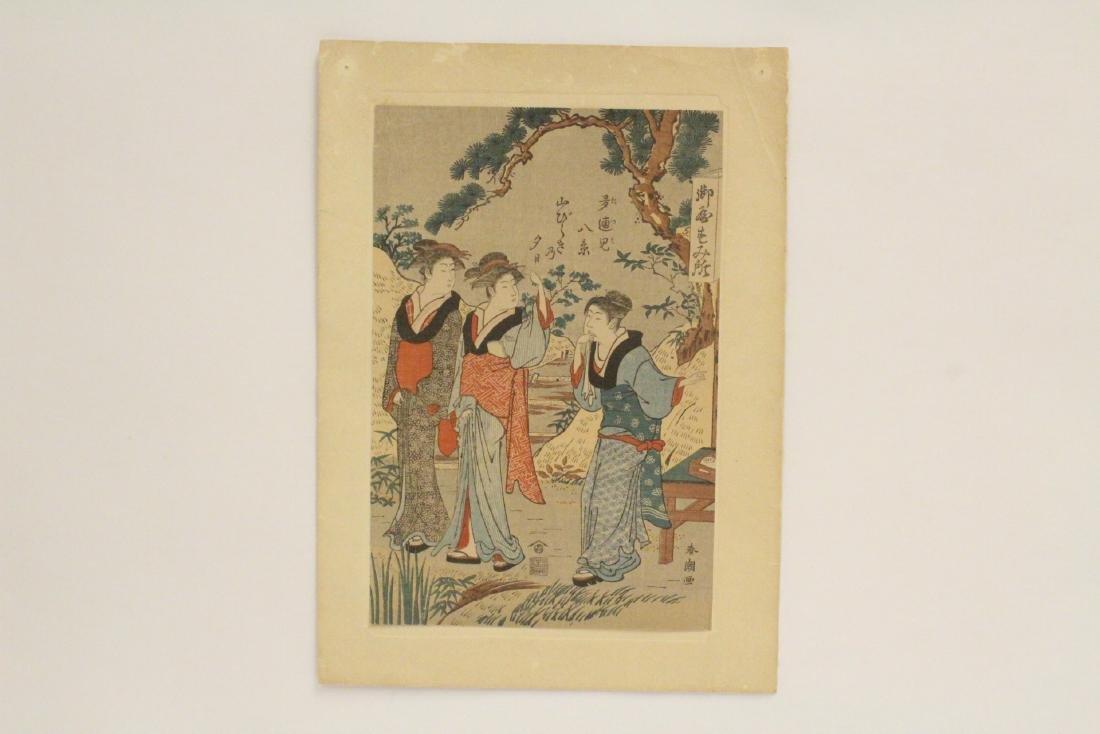 Antique Japanese w/b print by Suzuki Harunobu