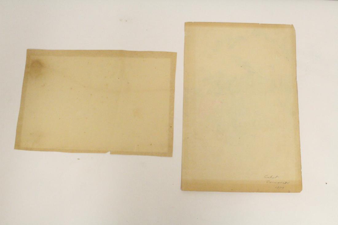 2 antique Japanese antique woodblock prints - 10