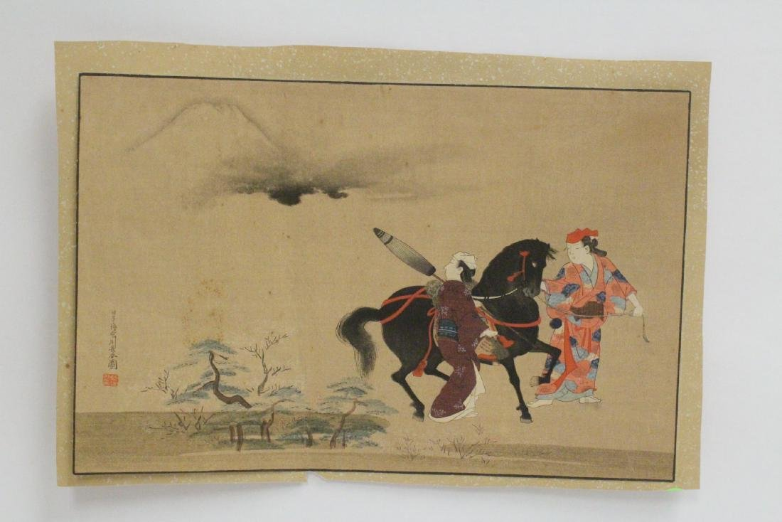 2 antique Japanese antique woodblock prints - 2