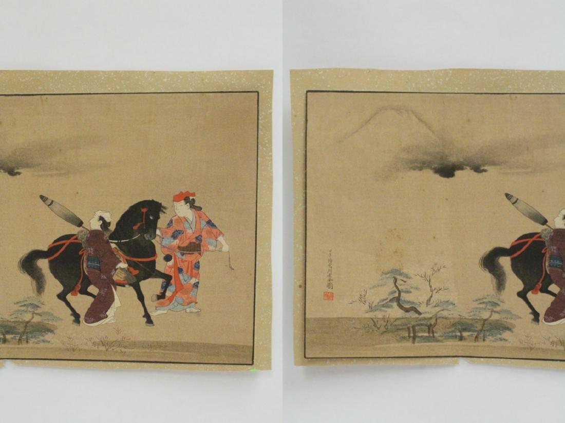 2 antique Japanese antique woodblock prints - 3
